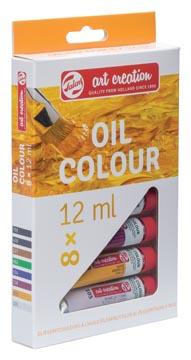 Talens Art Creation peinture à l'huile tube de 12 ml, set de 8 tubes en couleurs assorties