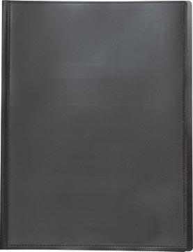 Pergamy protège-documents personnalisable, pour ft A4, avec 20 pochettes transparents, noir
