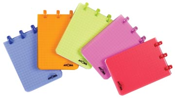 Atoma carnet de notes Trendy ft A7, quadrillé 5 mm, couleurs assorties