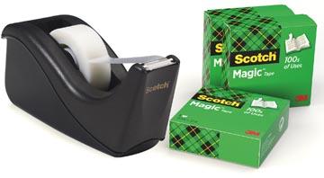 Scotch dérouleur de ruban adhésif Two Tone Black