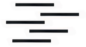 Durable Durafix barre magnétique adhésive, 210 mm, paquet de 5 pièces, noir