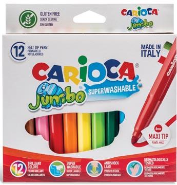 Carioca feutre Jumbo Superwashable, 12 feutres en étui cartonné