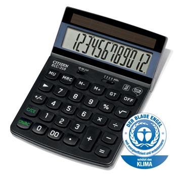 Citizen calculatrice de bureau Eco ECC-310, noir