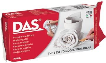 Das Argile à modeler, paquet de 1 kg, blanc