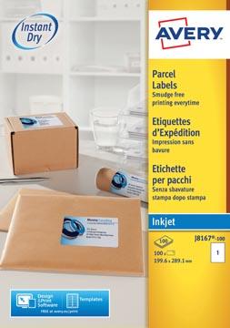 Avery J8167-10 étiquettes adresse ft 199,6 x 289,1 mm (b x h), 10 étiquettes, blanc