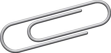 Kangaro trombones, 25 mm, ronds, galvanisés, boîte de 100 pièces.