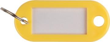 Q-Connect porte-clés, paquet de 10 pièces, jaune
