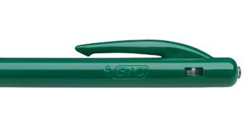 Bic stylo bille M10 Clic, pointe moyenne, 0,4 mm, vert