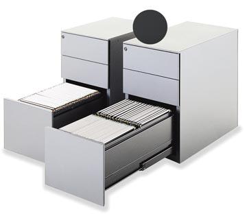 Mobo bloc à tiroirs Universal, 2 tiroirs + tiroir pour dossiers, sur pieds, anthracite