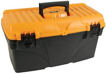 Perel boîte à outils, ft 43,2 x 25 x 23,8 cm, livré vide, noir/jaune