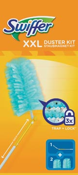 Swiffer kit de lancement Duster XXL, 2 recharge inclus