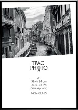 TPAC cadre photo aluminium, noir, ft A1