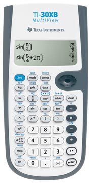 Texas calculatrice scientifique TI-30XB Multiview, alimentation par piles