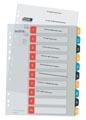Leitz Cosy intercalaires, ft A4, perforation 11 trous, PP, couleurs assorties, set 1-10