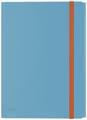 Leitz Cosy chemisa à élastiques à 3 rabats, avec pochette à fermeture à bouton-pression, en PP, bleu
