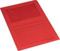 Pergamy pochette coin à fenêtre, paquet de 100 pièces, rouge
