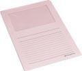 Pergamy pochette coin à fenêtre, paquet de 100 pièces, rose clair