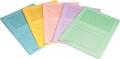 Pergamy pochette coin à fenêtre, paquet de 100 pièces, en couleurs assorties claires